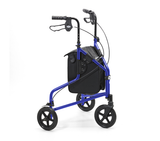 Side view of Days Lightweight Blue Aluminium Tri Walker with Bag