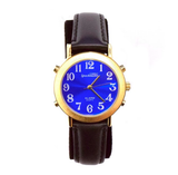 Gold & Blue Analog Talking Watches