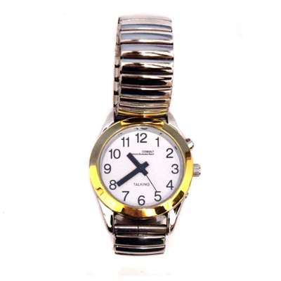 Ladies Talking Calendar Alarm Wristwatch