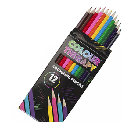 Colour Therapy 12 Colouring Pencils