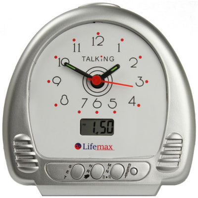 the image shows the lifemax talking alarm clock