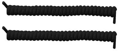 Spring Coiler Shoelaces In Black