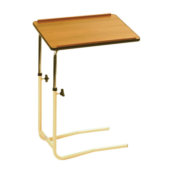the image shows the adjustable bed chair and table