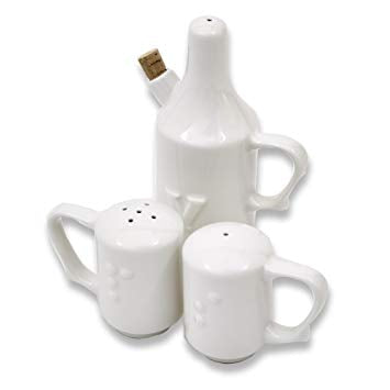 Wade Dignity One Handled Salt, Pepper & Vinegar Shaker Set