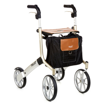 Lets Go Out Rollator Beige & Silver