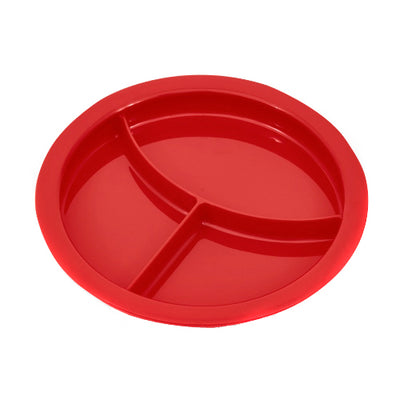 the image shows the divided plate in red