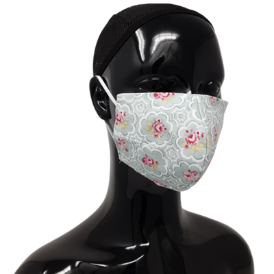 the image shows the washable reusable face mask in Bayswater Rose