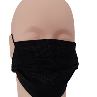 Black 3 ply Disposable Face Masks (Pack of 25)