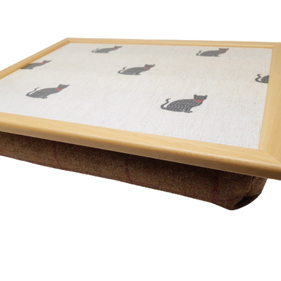 Luxury Tweed Kitten Cushioned Lap Tray
