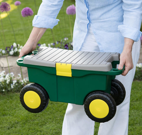 Garden Roller Stool Toolbox and Seat