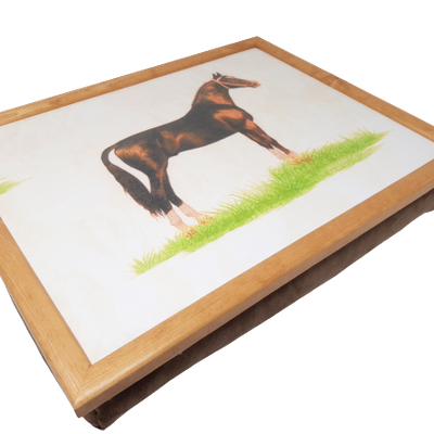 Luxury Suede Horse Cushioned Lap Tray