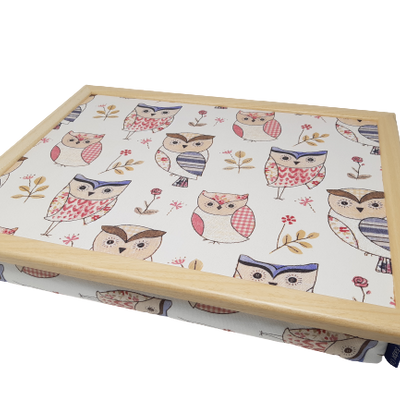 Lap Tray with Bean Bag Cushion - Owl