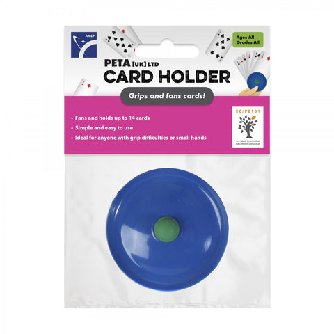 Circular playing card holder