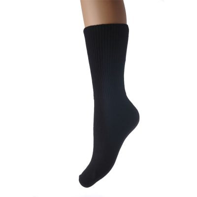 Black Seamless Oedema Socks