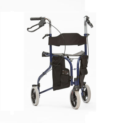 Tri-walker walking aid with seat - Blue