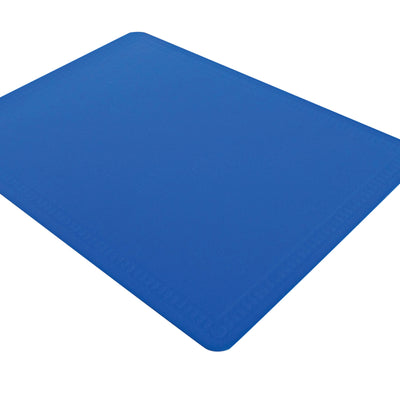 the image shows the large non slip silicone mat in blue
