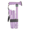 The image shows the Folding Rubber Handled Walking Stick in lilac