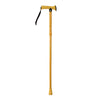The image shows the folding rubber handled walking stick in yellow