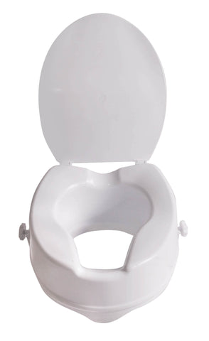 Viscount Raised Toilet Seat with Lid