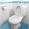 the image shows the portable bidet bowl in place on a toilet