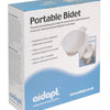 The image shows the portable bidet bowl in its box