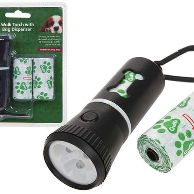 Crufts Dog Walking Torch with Bag Dispenser