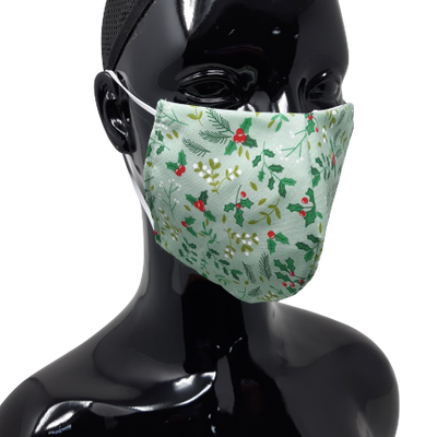 Washable and Reusable Holly and the Ivy Face Mask