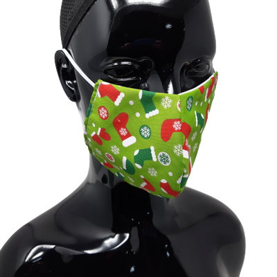 The image shows the stockings christmas face mask