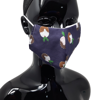 Washable and Reusable Christmas Puddings Face Mask