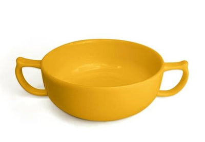 the image shows the yellow wade dignity soup bowl in yellow