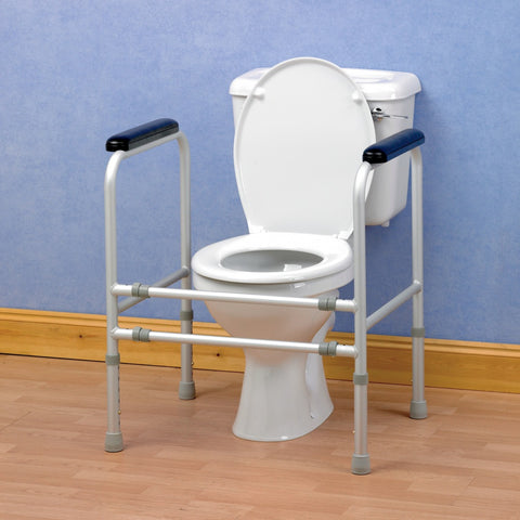Homecraft-Aluminium-Adjustable-Toilet-Surround-Rail One size
