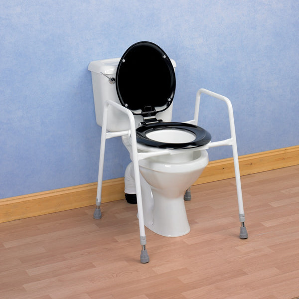 the image shows the homecraft sussex adjustable toilet frame