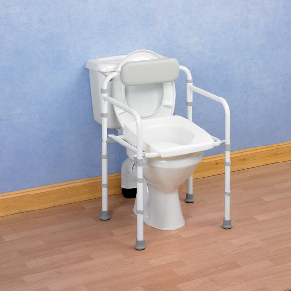 the image shows the homecraft uni-frame folding toilet frame