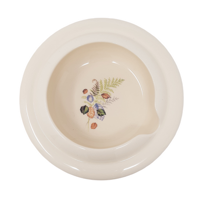 Secure Grip Full Lipped Bowl with Cut Out | Fern Pattern