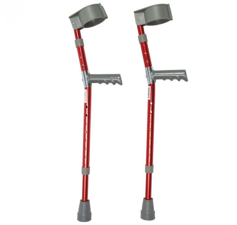 Aluminium-Child's-Forearm-Crutches Red
