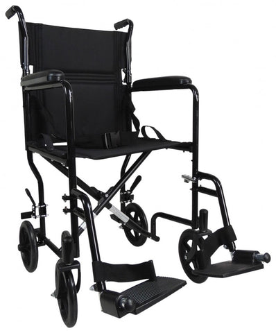 Aluminium-Compact-Transport-Wheelchair Red