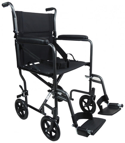 Aluminium-Compact-Transport-Wheelchair Hammered Effect