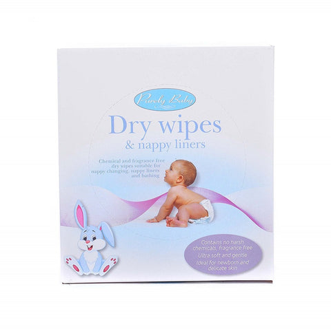 Baby-Dry-Wipes-&-Nappy-Liners---Pack-of-50 Baby Dry Wipes & Nappy Liners - Pack of 50
