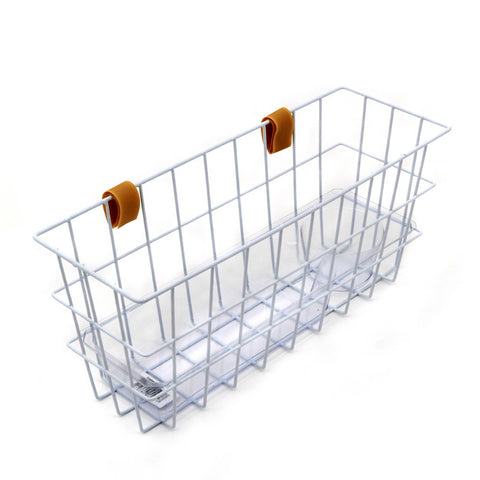 Basket-with-Tray-for-Walking-Zimmer-Frames White
