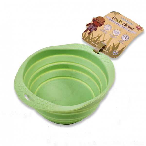 Beco-Collapsible-Travel-Bowl Green