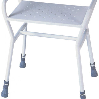image shows the Belmont adjustable shower stool