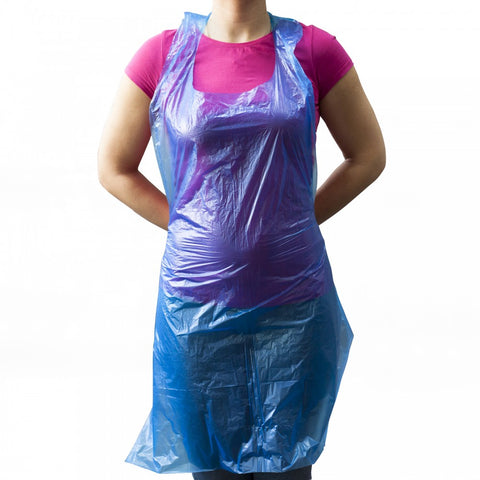Blue-Polythene-Aprons Pack of 100