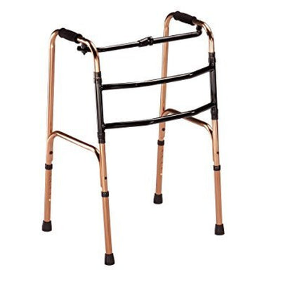 Bronze-Deluxe-Folding-Walking-Zimmer-Frame Bronze Folding Frame