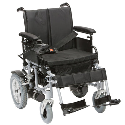 The image shows the Cirrus Powerchair from the front