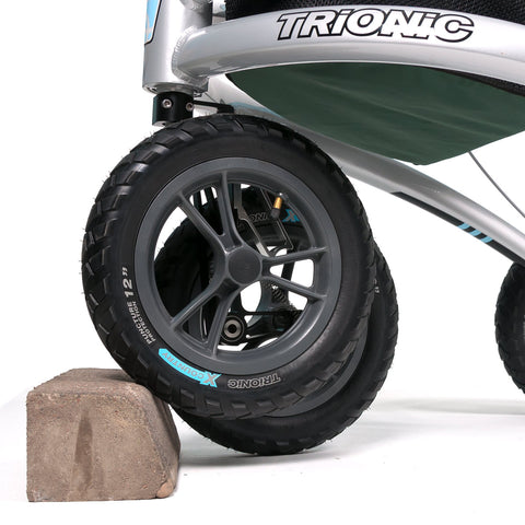 close up of the trionic climbing wheel on a Trionic Veloped Golf Medium