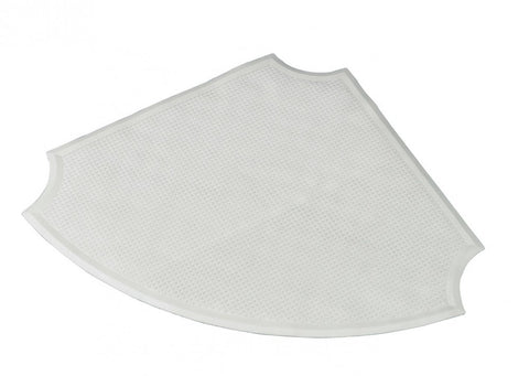 Corner Shower Mat White