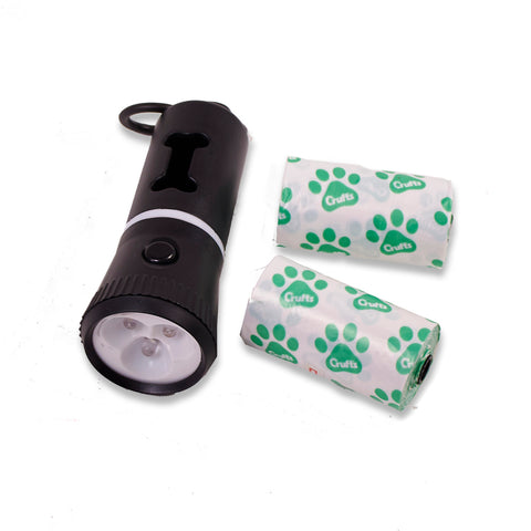 Crufts-Dog-Walking-Torch-with-Bag-Dispenser One