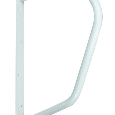 Image of a white D-shaped rail