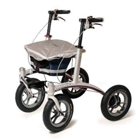 The image shows the Trionic Walker with seat cover in place