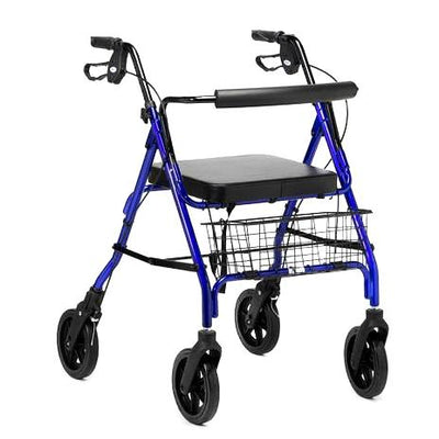 the image shows the days heavy duty 4 wheel rollator